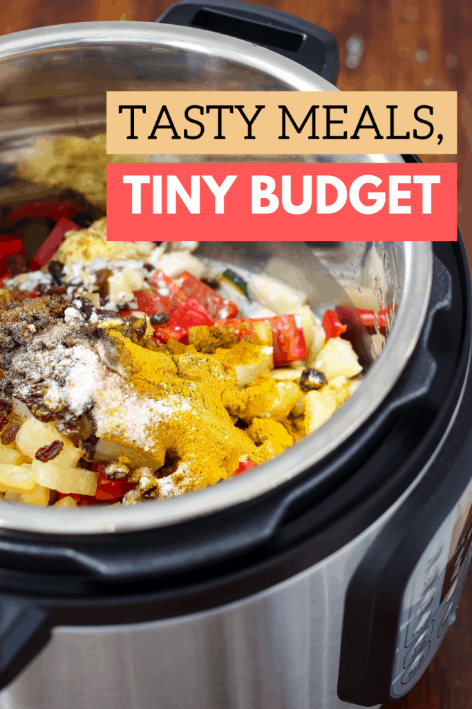 Are you looking for delicious meals on a tiny budget? Learn how to build a dirt cheap menu with what's already in your pantry. Bonus printable Pantry Inventory sheet!