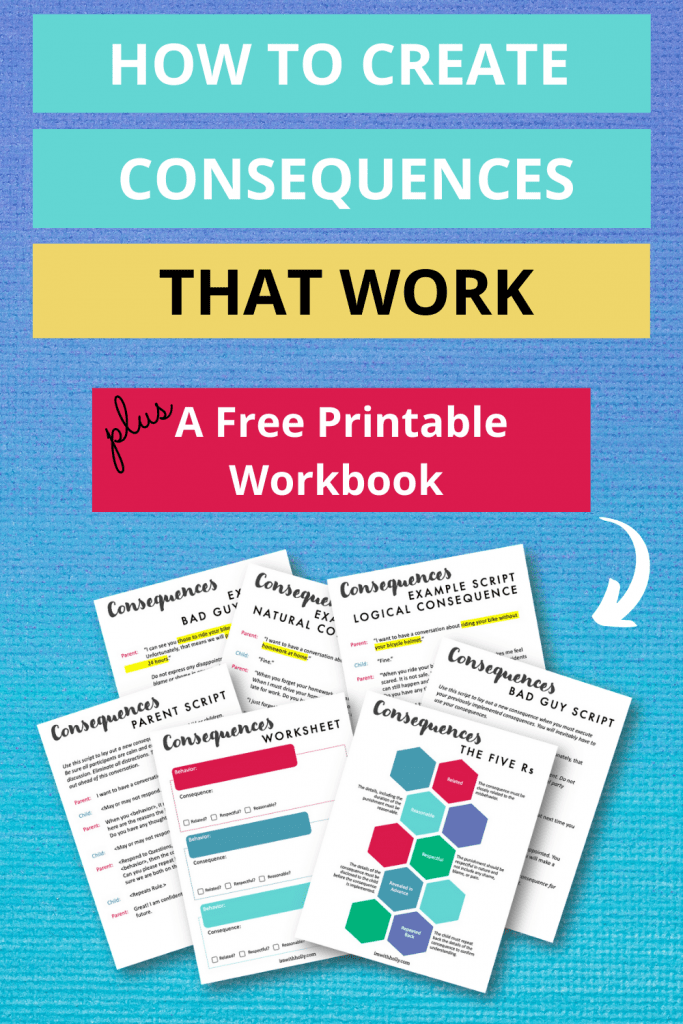 End the power struggles and create consequences that actually work. Download my bonus workbook for you to implement consequences today!