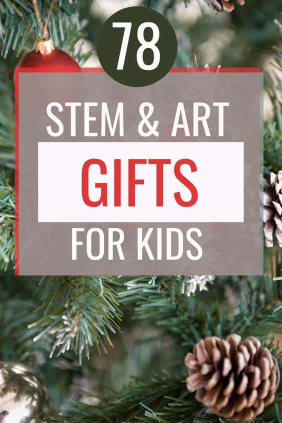Are you looking for the perfect education gift for kids in your family? Here's our ultimate list of 78 STEM and Art gifts for kids of all ages! All are under $20, and available through Amazon Prime. Check it out today!