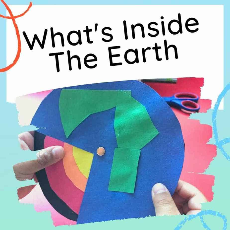 What's inside the earth paper craft