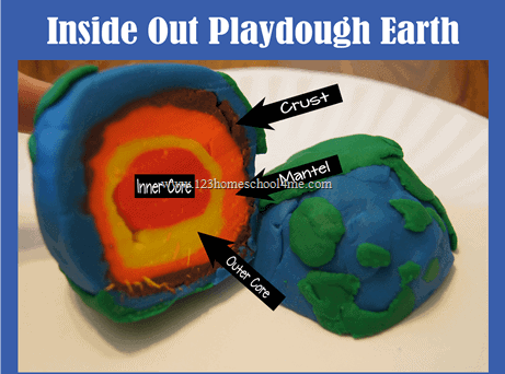 Inside Out earth playdoh craft