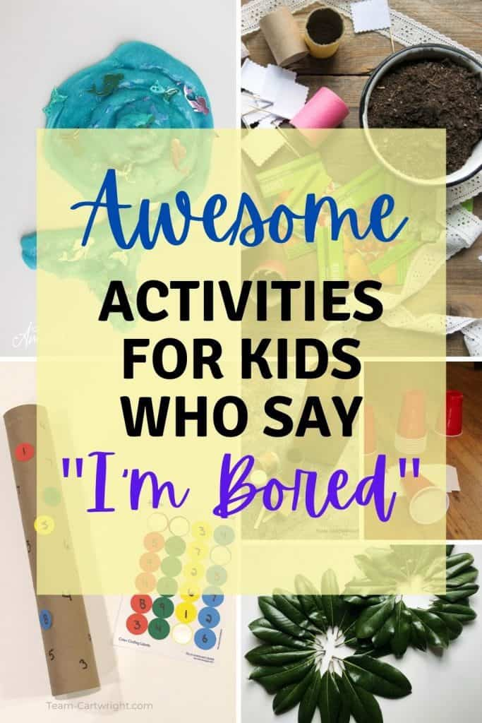 Mom can't provide entertainment 24/7. So use these no-prep, low mess boredom busting activities when you need kids to entertain themselves!