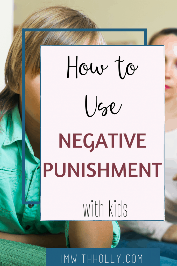 Negative punishment can be an effective tool if used correctly in moderation. There are some pitfalls to negative punishments. Here's a complete guide to effective punishments for kids. Plus, alternatives you can use instead of negative punishments!