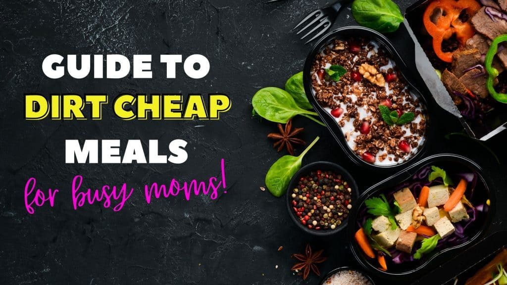 Dirt Cheap Meals for moms