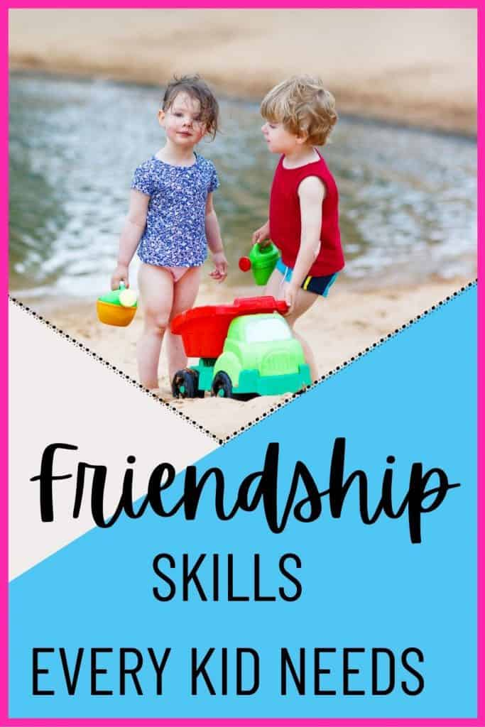 Want your kids to thrive socially? Here's how to teach your child to be a good friend. These 9 skills will help kids make life-long friends.