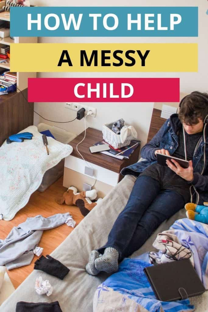 Are your kids struggling to keep rooms clean? Learn how to help a messy child learn life skills to keep their space tidy.