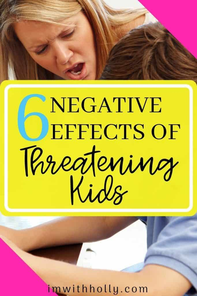 Learn the negative effects of threatening kids. Plus effective ways to get kids to listen! You'll be shocked how well simple strategies work!