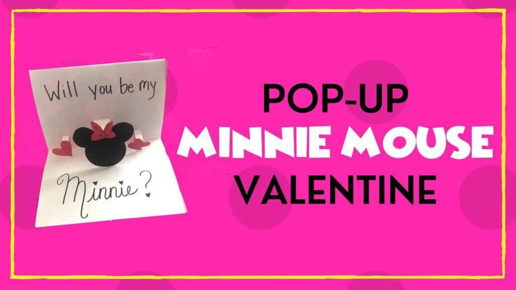 pop up Minnie Mouse valentine