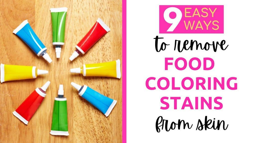 remove food coloring from skin