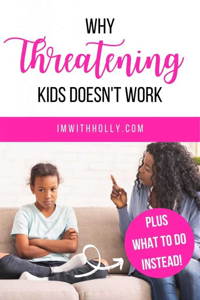 Are you guilty of making threats? Learn the negative effects of threatening your children. Plus effective ways to get kids to listen! You'll be shocked how well simple strategies work!