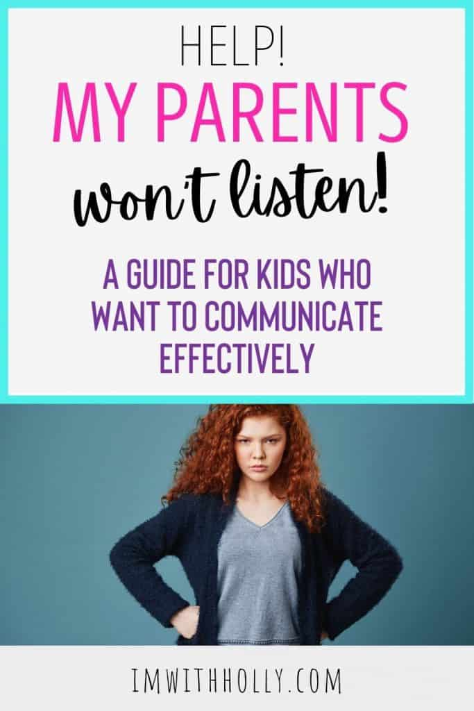 Ready to end the power struggles with your parents? Learn to communicate with your parents when you feel like your parents never listen!