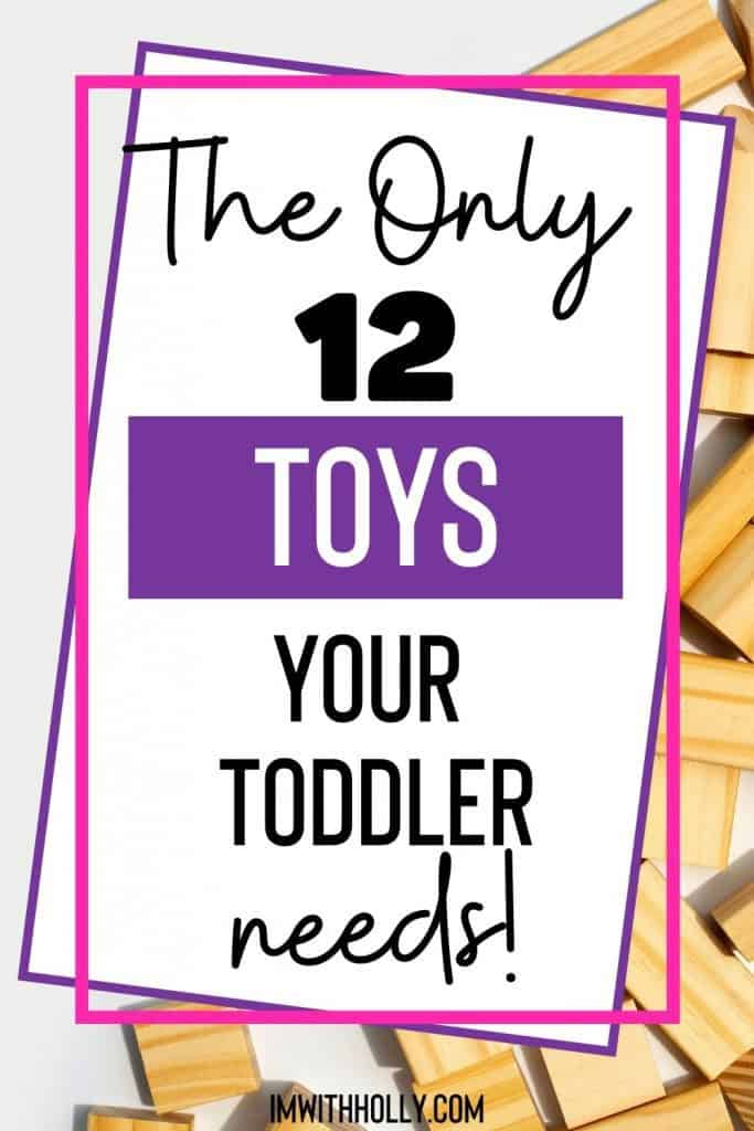 Are you drowning in toys? Tame the chaos by downsizing toys. Check out this minimalist toy list for toddlers. Hint: Kids will benefit too!