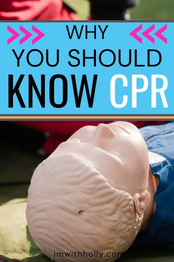Everyone should know the basic first aid skill of Cardiopulmonary Resuscitation (CPR).