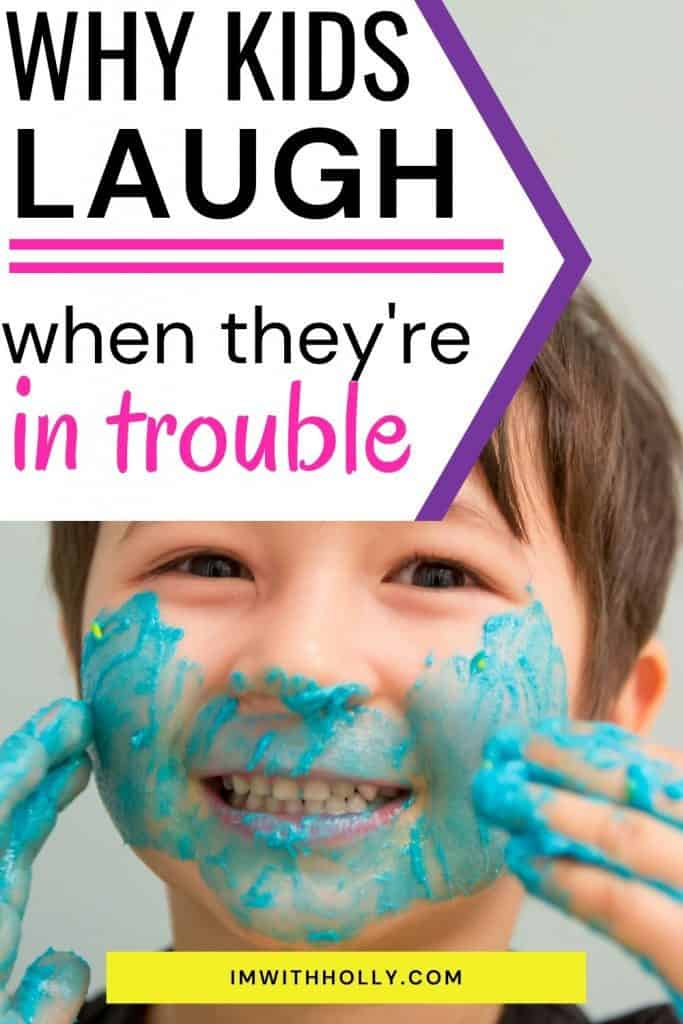 Have you ever caught your child laughing when disciplined? It's one of the most frustrating things a parent can experience! Here's why kids behave this way (and it's probably not the reason you think), and how you should handle it.