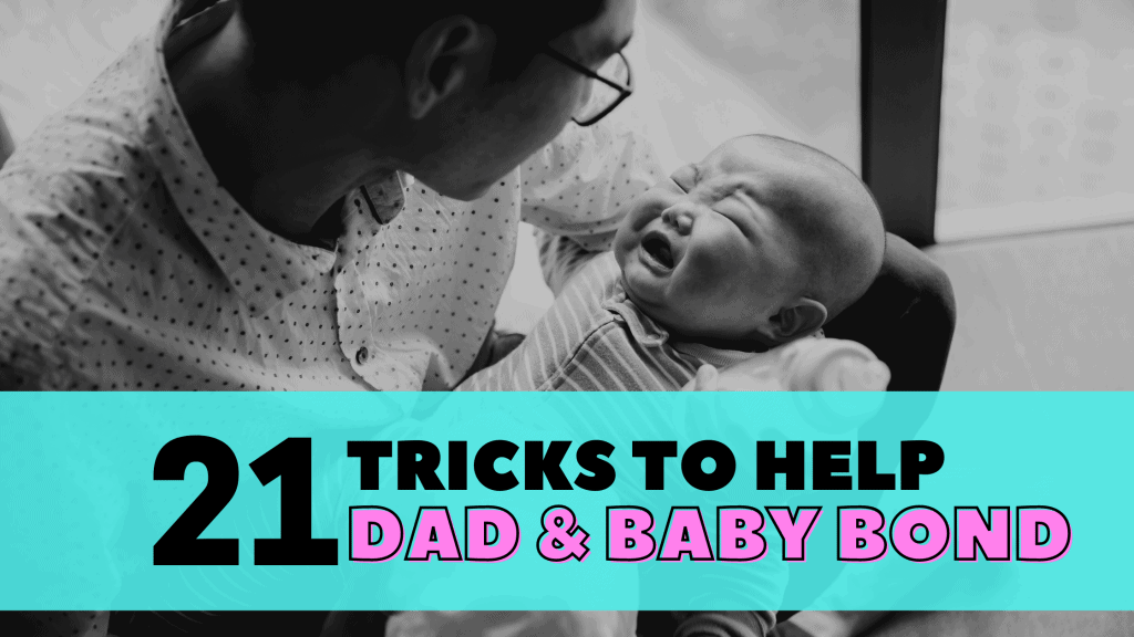 When baby cries with dad