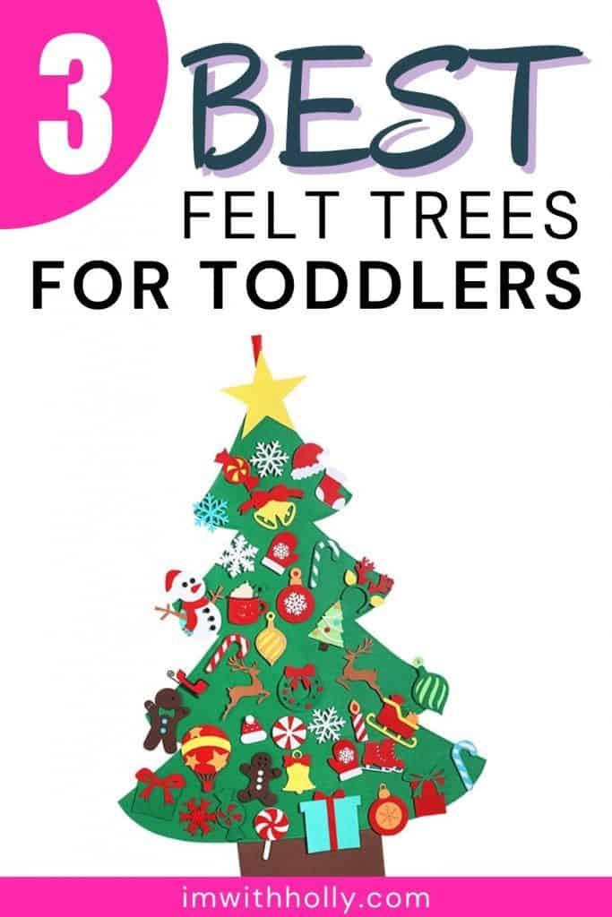 best felt christmas trees for toddlers