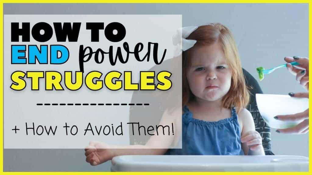 power struggles with toddlers