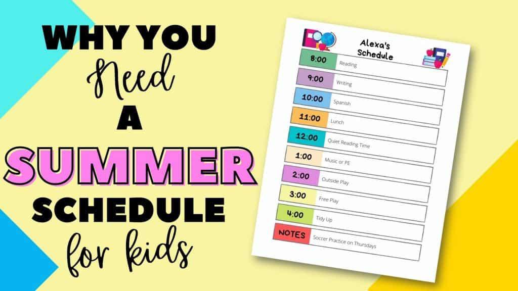 summer schedule for kids