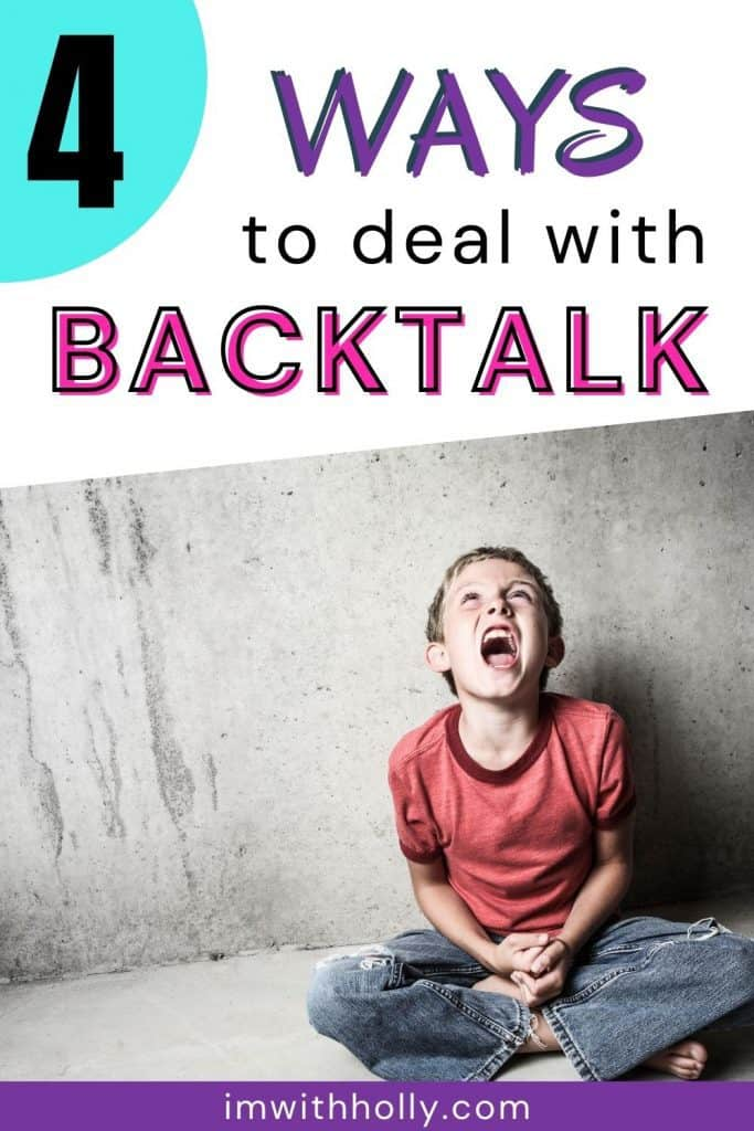 how to handle backtalking child