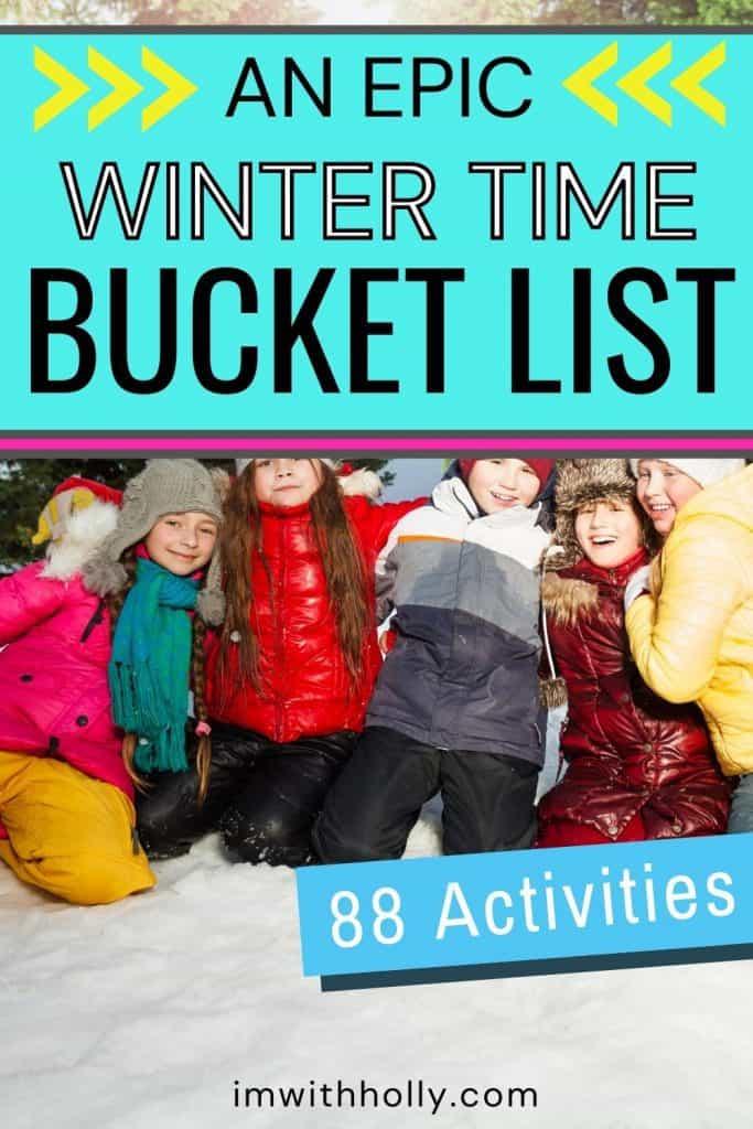 winter bucket list for kids
