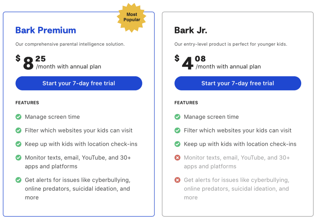 Bark pricing