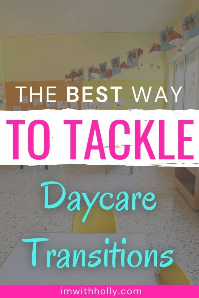 how to manage daycare transitions with kids