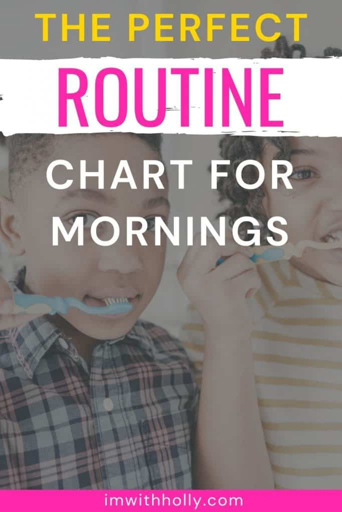 morning routine charts for kids