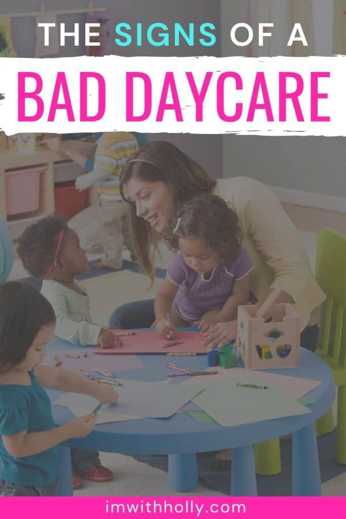 signs of a bad daycare